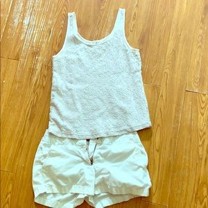 All white outfit size S and 0 Jcrew